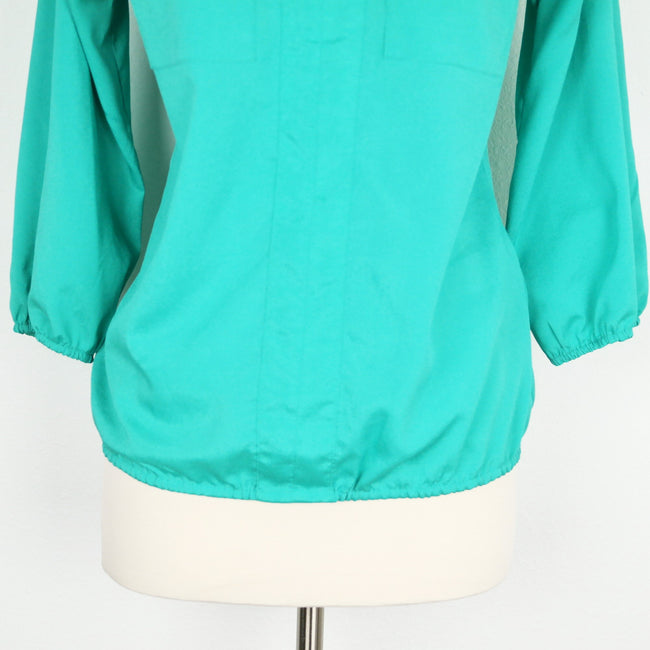 NY & Co Green Teal Blouse Size XS