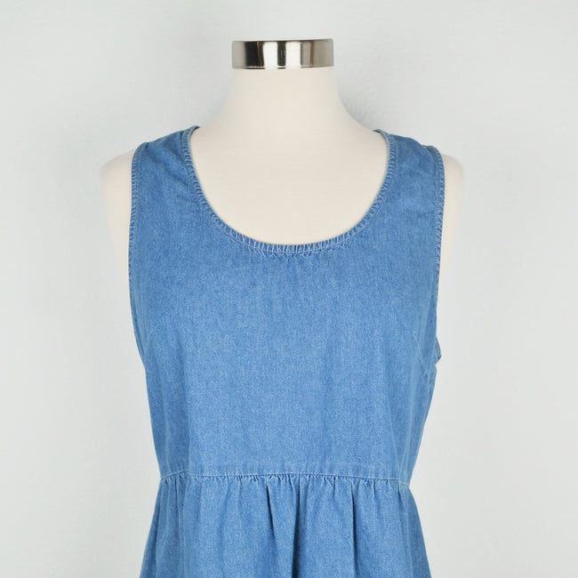 Forever 21 Chambray Open Back Dress Size S