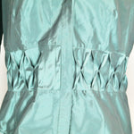 SALE Hilton Hollis Green Button Down Silk Blouse Size S