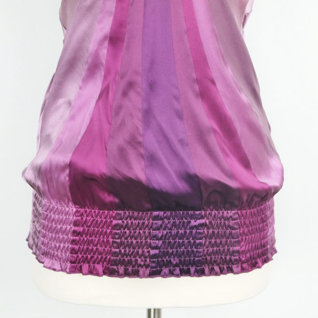BEBE Purple Silk Halter Blouse Size XS