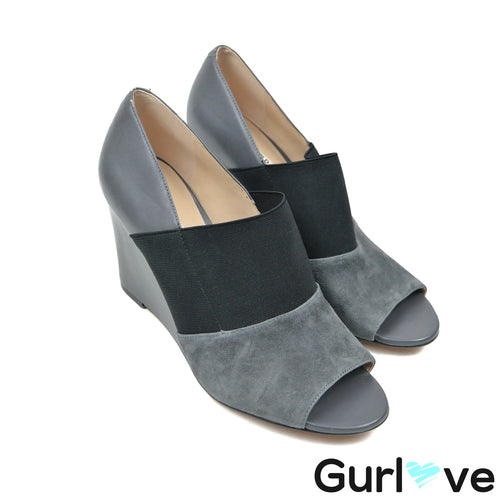 Karl Lagerfeld 10M Gray Moyen Darci Shoes