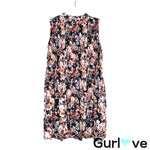 NWT Xhilaration Floral Sleeveless Halter Dress Size S