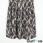 HD in Paris Anthropologie Black Cream Laced Dress Size XS