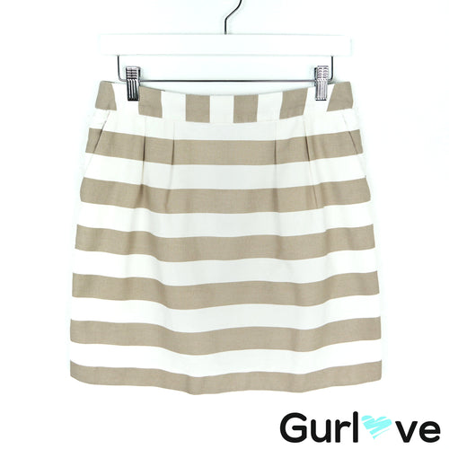Banana Republic Factory Tan Striped Mini Skirt Size 4