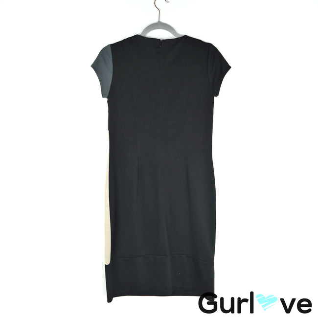 AA Studio AA Black Color Block Short Sleeve Midi dress Size 8