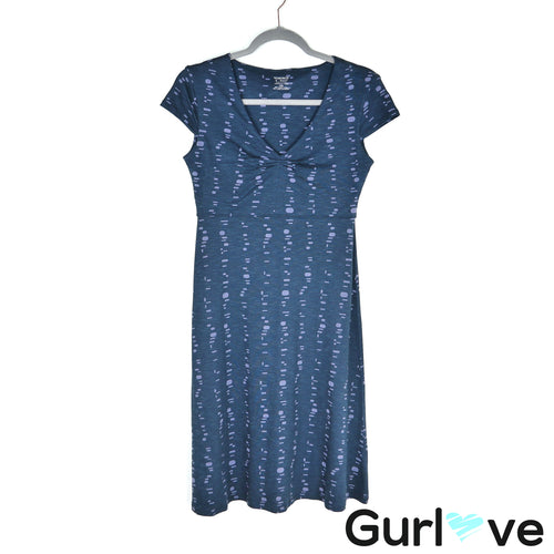 Horny Toad Blue Rosemary Short Sleevess Printed Dress Size XS