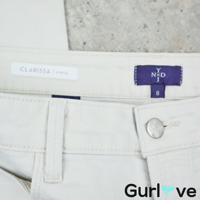 NYDJ Light Clarissa Ankle Jeans Size 8