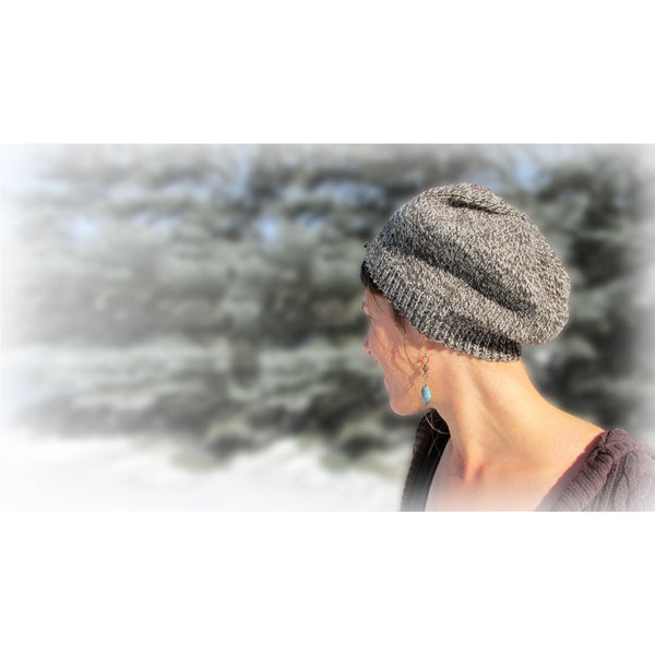 Tweed Slouch Hat Mini-Knitting Kit