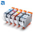 10 INK CARTRIDGE PG-5BK CLI-8BK C M Y for CANON  iP4200 iP4300 iP4500 iP5200 MP610 MP810 printer full ink