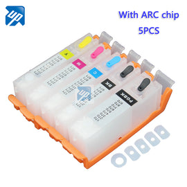 5PCS PGI-770 CLI-771 refillable ink cartridges For canon MG5770 MG6870 TS5070 TS6070 TS8070 with ARC chip for canon 770 PGI770