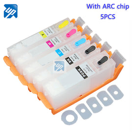 5PCS PGI-970 CLI-971 refillable ink cartridges For canon MG5790 MG5795 TS5090 TS8090 with auto reset chip pgi970 pgi 970 ink