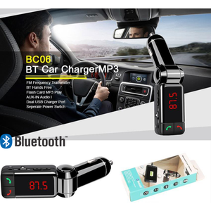 HelectroniC.ci Lecteur Audio Automobile Bluetooth MP3 et Transmetteur FM | BC06