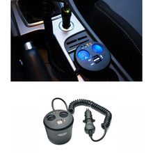 HelectroniC Multiprise Automobile Allume-Cigare Anti-Surtension Double USB | COMUTECH