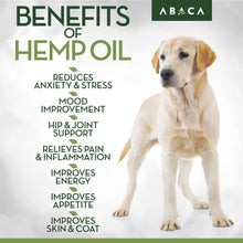 Abaca Organic Hemp Oil for Dogs & Cats - Safe All-Natural Anxiety Calming & Pain Relief - 1000 mg