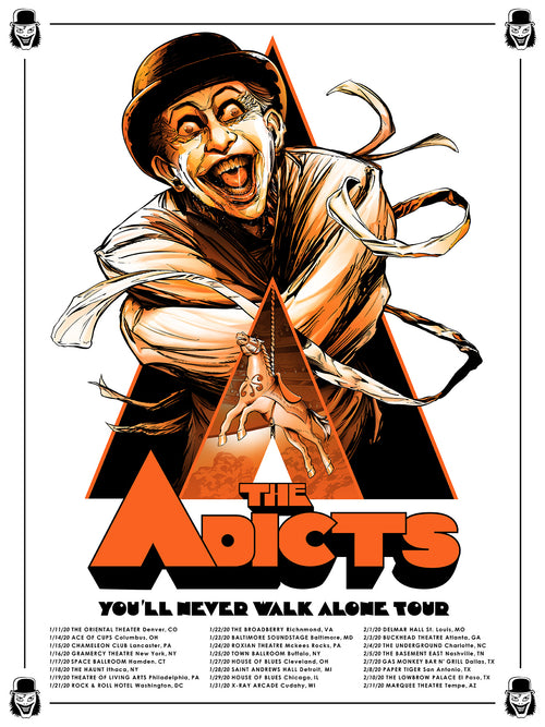 The Adicts - 2020 Tour Poster