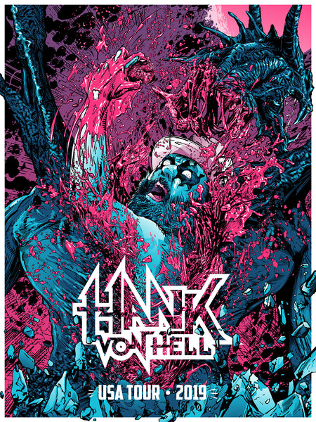 Hank Von Hell - USA Tour Poster