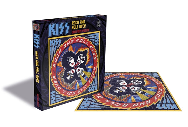 KISS ROCK AND ROLL OVER (500 PIECE JIGSAW PUZZLE)