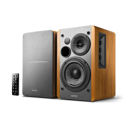 Edifier - R1280DBs Powered Bluetooth Bookshelf Speakers - Brown