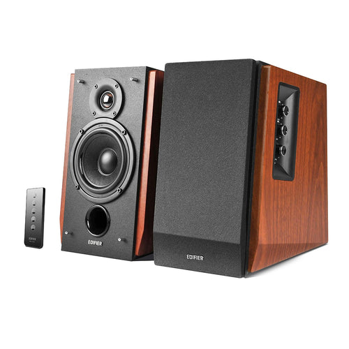 Edifier - R1700BT Powered Speakers w/ Bluetooth - Wood Brown