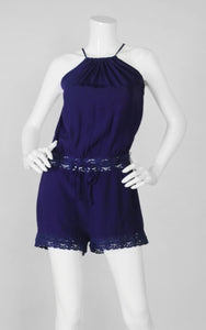 Olivaceous Navy Romper