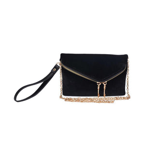 Urban Expressions Lucy Velvet Crossbody/Wristlet