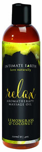 Intimate Earth Relax Massage Oil 4oz