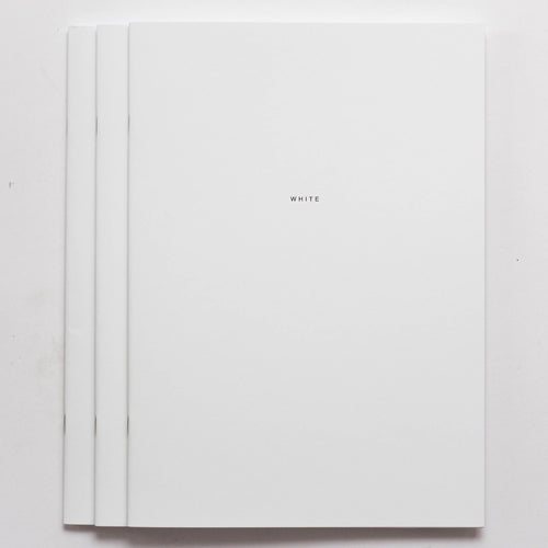 3x WHITE Notebook