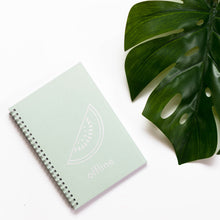 Planner with white print on mint color cover, quote, offline sign, watermelon, white foil with glitters, gold foil, mint green cover, personaliziran rokovnik, personalised planner, custom made, planner, journal, name on cover, ime na platnici, rokovnik, prilagojen rokovnik