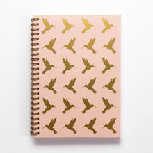 Planner with gold pattern on cover, quote, hummingbird, hummingbird pattern, kolibri, gold foil, nude pink cover, personaliziran rokovnik, personalised planner, custom made, planner, journal, name on cover, ime na platnici, rokovnik, prilagojen rokovnik