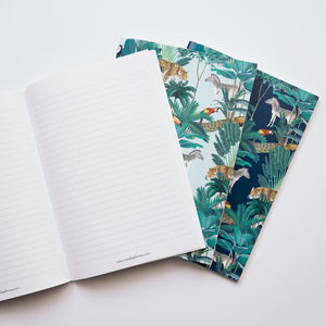 JUNGLE FEVER set of 3 notebooks