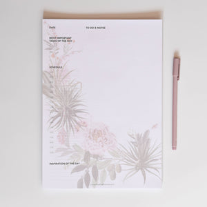 Notepad A4 with flowers