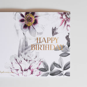 HAPPY BIRTHDAY card - Flower