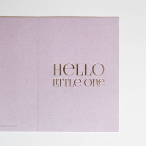 HELLO LITTLE ONE Card - Grey