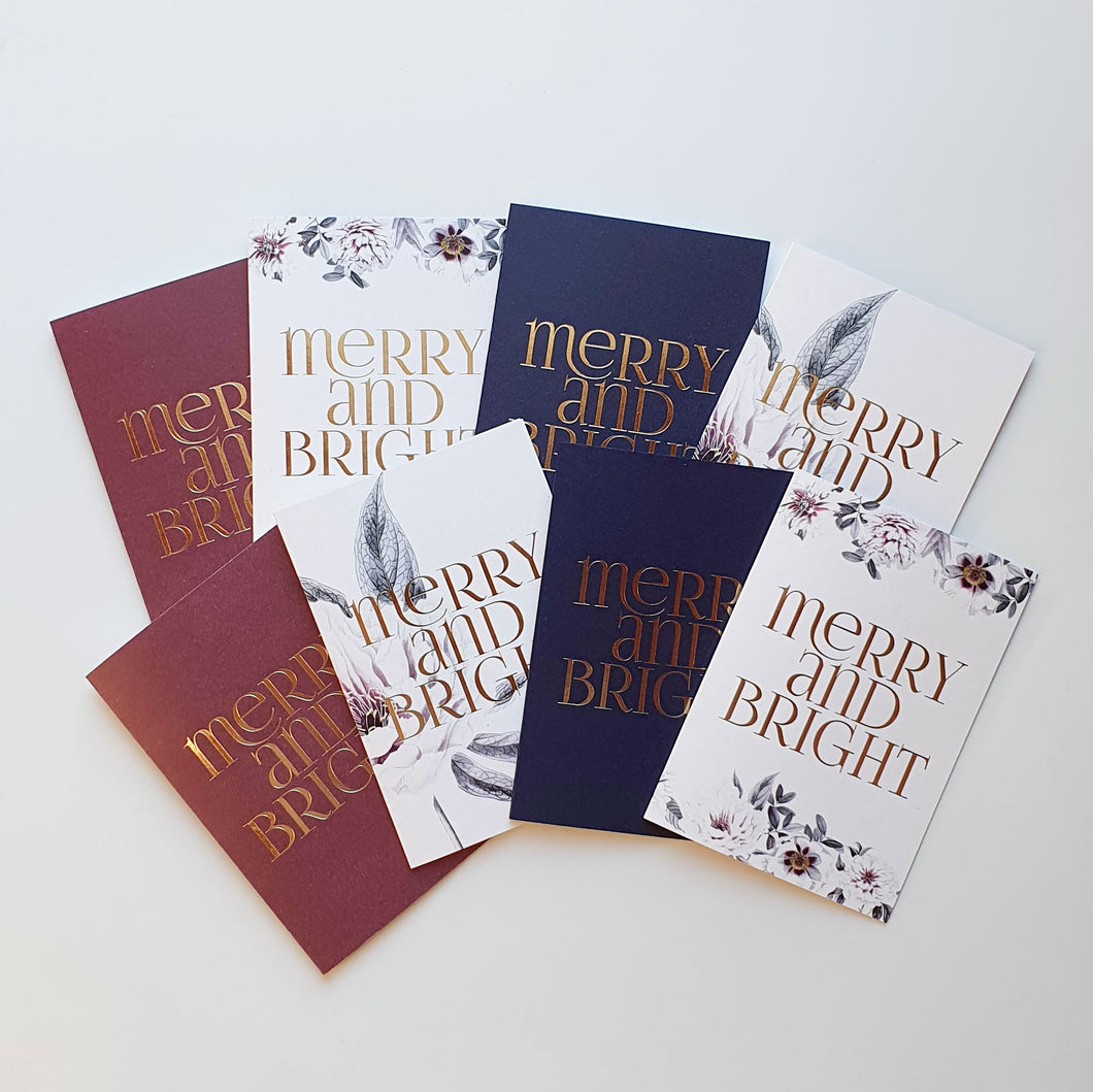 CHRISTMAS CARDS set of 8