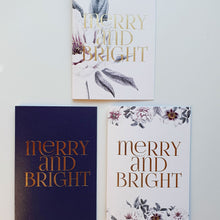 CHRISTMAS CARDS set of 3 - Flowers pack