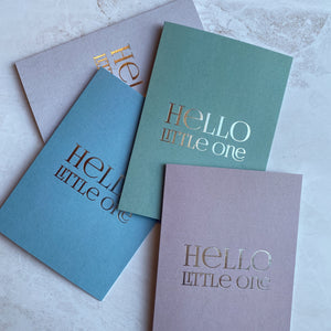 HELLO LITTLE ONE Card - Green
