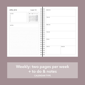 choose your back sections, back sections that you like and need, Planner with circles on cover, personaliziran rokovnik, personalised planner, custom made, planner, journal, name on cover, ime na platnici, rokovnik, prilagojen rokovnik, different types of calendar, weekly calendar