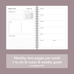 personaliziran rokovnik, personalised planner, custom made, planner, journal, name on cover, ime na platnici, rokovnik, prilagojen rokovnik, different types of calendar, weekly calendar, different calendar designs
