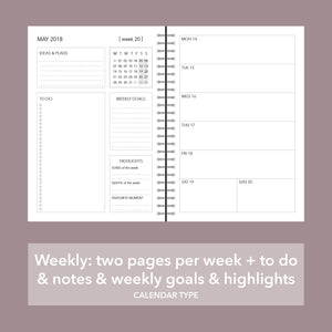 Personalised planner: SPARKLE