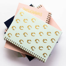 Planner with gold print pattern on cover, quote, hummingbird, peacock, flamingo, tucano, animal pattern, gold foil, nude pink cover, personaliziran rokovnik, personalised planner, custom made, planner, journal, name on cover, ime na platnici, rokovnik, prilagojen rokovnik