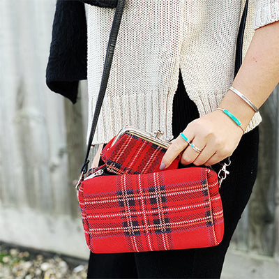 Royal Stewart Tartan Tapestry Bag