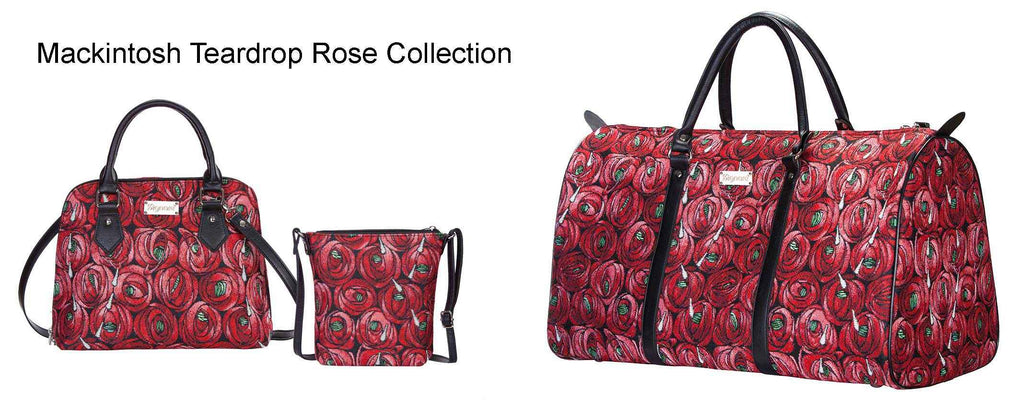 Signare tapestry Mackintosh rose and teardrop collection