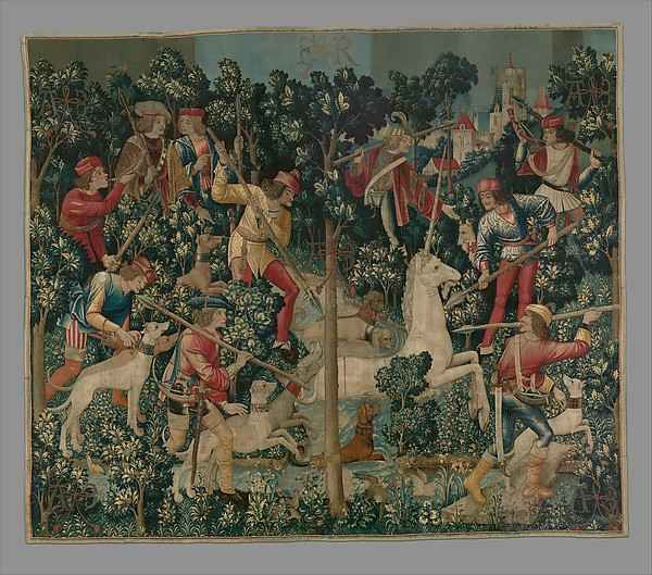 The Capture of the Unicorn-Metropolitan of Art, Manhattan, New York-Signare tapestry