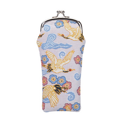 Japanese Crane Glasses Pouch | Blue Glasses Case | GPCH-CRANE