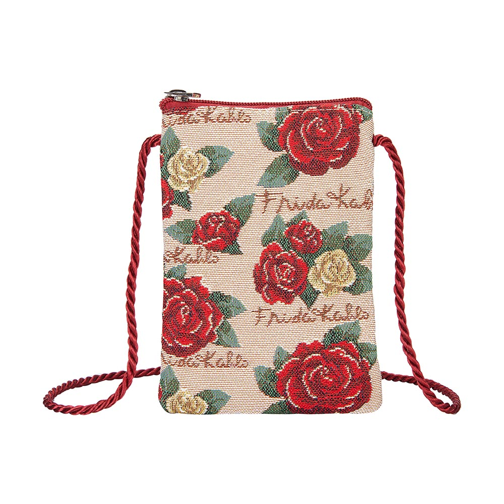 Frida Kahlo Rose Smart Bag | Small Neck Pouch | SMART-FKROSE