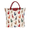 Cheeky Cat Foldaway Shopping Bags | Stylish Tapestry Foldable Tote Bag | FDAW-CHEKY