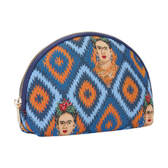 Frida Khalo Icon Cosmetic Bag | Blue Makeup Case | COSM-FKICON