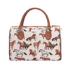 Running Horse Travel Bag | Beige Ladies Travel Hand Luggage | TRAV-RHOR