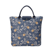 Jane Austen Blue Foldaway Shopping Bags | Blue Tapestry Foldable Bag | FDAW-AUST