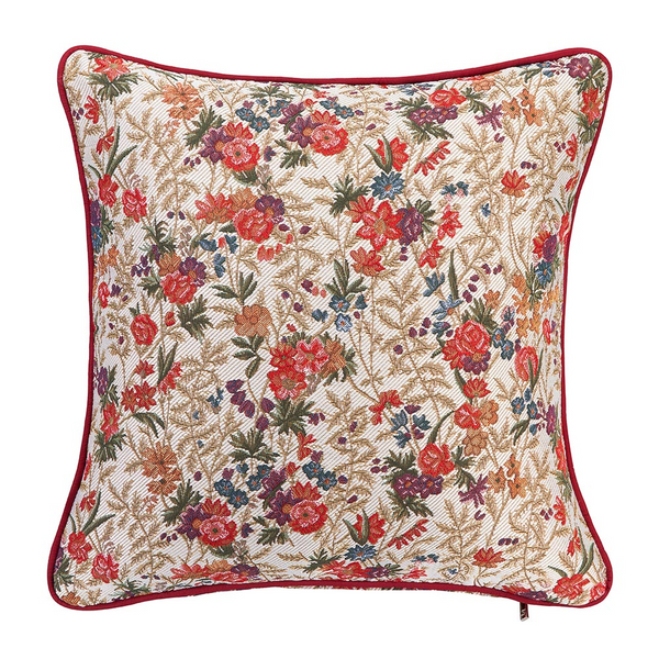 Flower Meadow Tapestry Cushion Cover | Floral 18x18 Cushion Covers | CCOV-FLMD